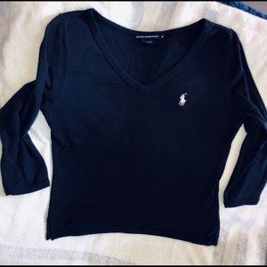 Ralph Lauren Sport T-shirt, Navy, 3/4Length sleeve